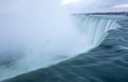 rushing water: Niagara Falls,Canada - close up on water Stock Photo