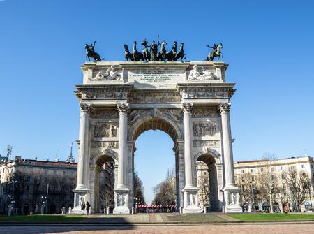 arco della pace, Milan 版權商用圖片