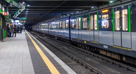 loreto metro station,Milan, february 2,2014