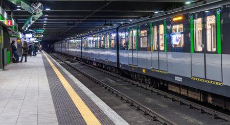 loreto metro station,Milan, february 2,2014