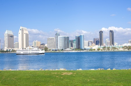 San Diego skyline view from Coronado Island Stock Photo