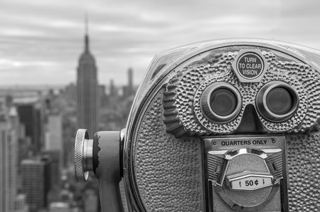 new rules:  Aerial view of Manhattan from a Binocular