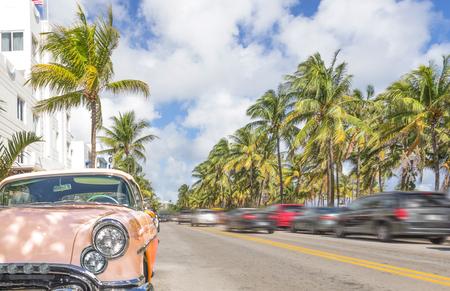 city of miami: Miami, ocean drive Stock Photo
