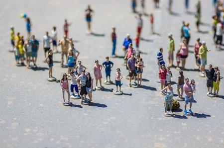 Toeristen mensen miniatuur