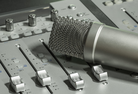 microphone on the mixer photo
