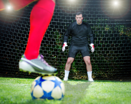 voetbal penalty Stockfoto