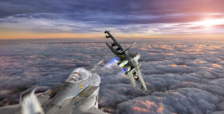 fighter pilot: fight over the clouds