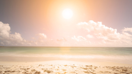 beach: sunset on a tropical beach