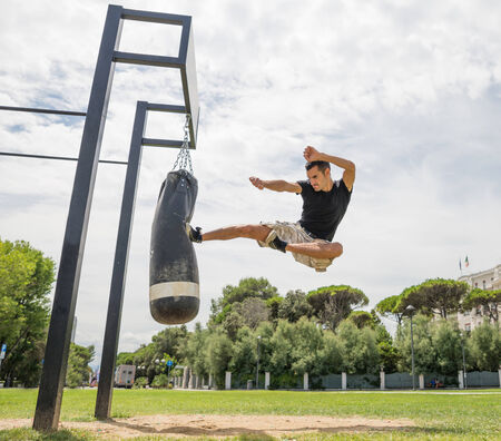 krav maga: crossfit park Stock Photo