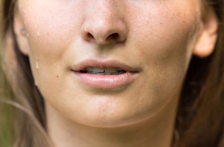 sweat: sweat girl portrait Stock Photo