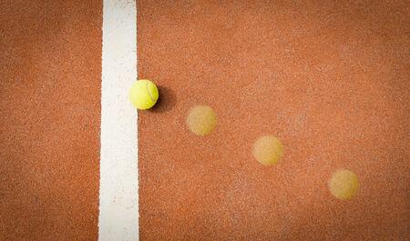 trajectoire: balle de tennis trajectoire