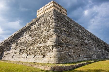 Kukulkan pyramid at Chichen Itza archeological site photo
