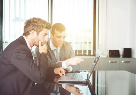 finance: business men work together Stock Photo