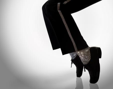 bailarines silueta: zapatos de bailarina Foto de archivo