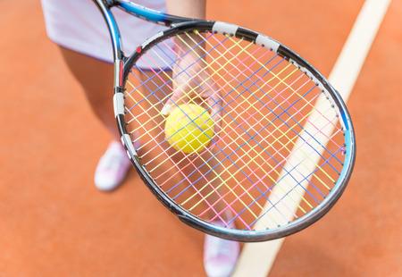 tennis racket and ball photo