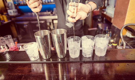 whisky bottle: bartender at work