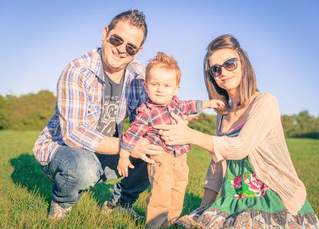 happy family portrait photo