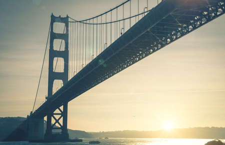 brige: Panoramic view of Golden Gate brige in San Francisco