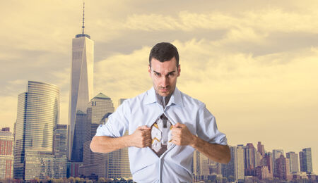 cyber warfare: superhero ready to rescue people