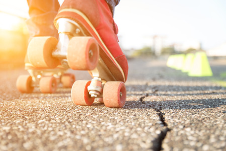 skating: skater boy makes some training