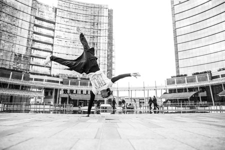 dancer: parkour Stock Photo
