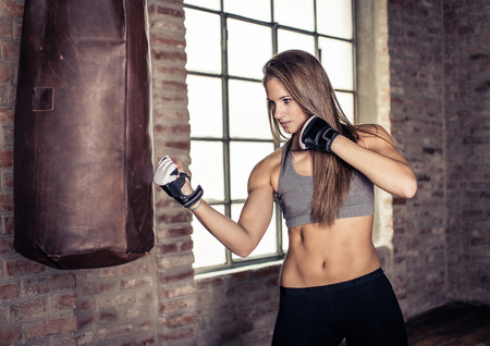 boxer: entrenamiento de combate Foto de archivo