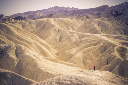 lonely person: Lonely person at Zabriskie Point in Death Valley National Park, California