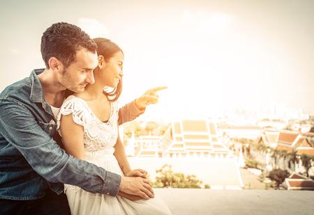 paar in liefde in Bangkok
