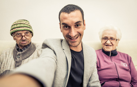 funny family selfie