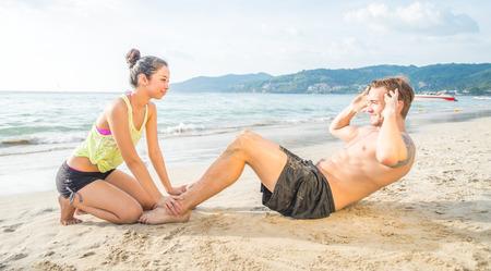 girls at the beach series: training on the beach