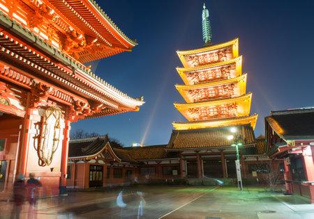 senso ji: asakusa shrine in tokyo Editorial