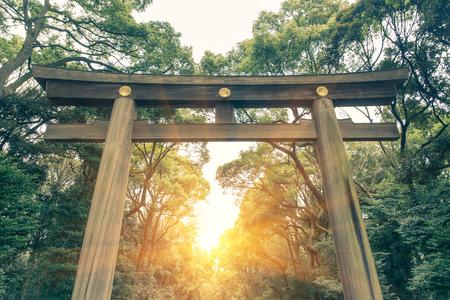 japanese symbol: yoyogi park in tokyo