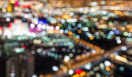 Blurred lights of Las Vegas skyline 免版税图像
