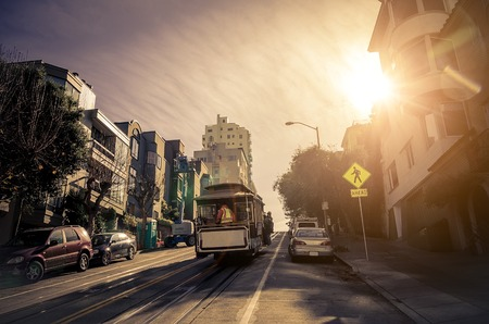 Cable car in San Francisco,California