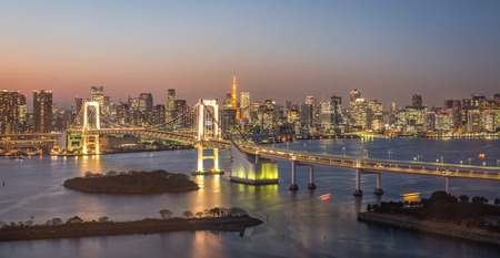 famous building: tokyo bridge from view point. concept about travel, and landmarks