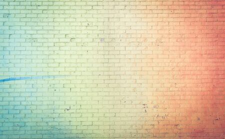 coloured: Colored wall background rainbow style. concept about brick walls and backgrounds