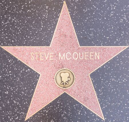steve: Los Angeles, CA. 8th october 2015. The Steve mcqueen star on the Walk of fame in Hollywood.  McQueen received an Academy Award nomination for his role in The Sand Pebbles