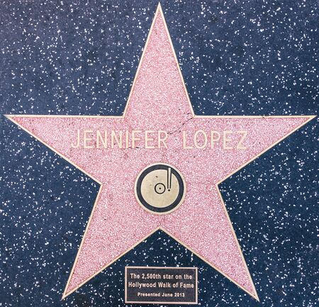 sanremo: Los angeles, CA. 12th october, 2015. Jennifer Lopez star on the Walk of fame, Hollywood. also known as J. Lo, is an American actress, author, fashion designer, dancer, producer, and singer