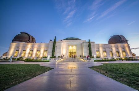 Griffith observatoire au coucher du soleil, Los Angeles Banque d'images