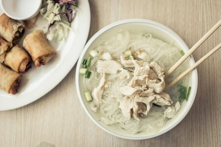 thai noodle soup: Traditional thai noodle soup. concept about food and restaurants