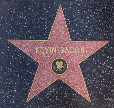walk of fame: HOLLYWOOD,CA - OCTOBER 8,2015: Kevin Bacon star on Hollywood Walk of Fame in Hollywood, California. This star is located on Hollywood Blvd. and is one of 2400 celebrity stars.