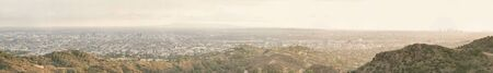 los angeles county: Panoramic view of Los angeles city Stock Photo