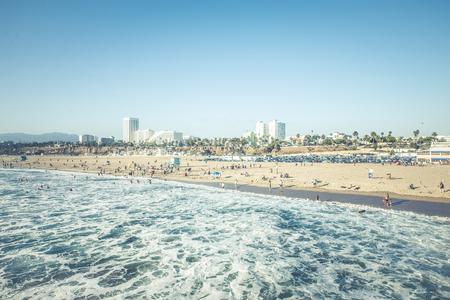 santa monica: Santa monica beach, California