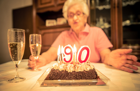 Grand-mère fête d'anniversaire