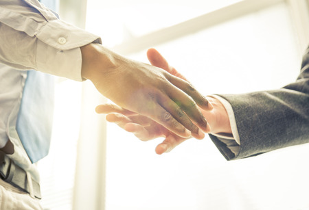 trust people: Business handshake Stock Photo
