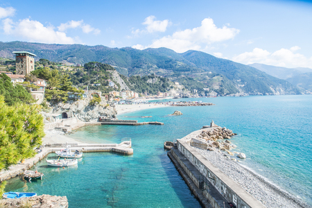 mediterrean: Monterosso al Mare in the Cinque Terre natural park, Liguria - Italy