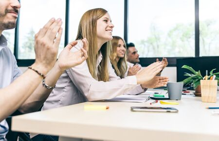 ovation: Business people making an ovation clapping hands
