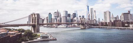 ニューヨーク マンハッタン橋からビュー