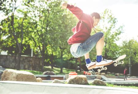 Skater in action Stock Photo
