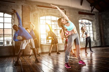 Corso di formazione ginnastica e fare esercizi